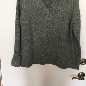 oldwater Creek Green Speckled Sweater. 1X